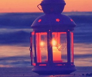 light, beach, and candle image