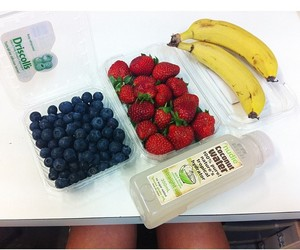 banana, snack, and blueberries image