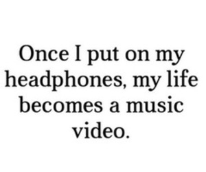 music, headphones, and life image
