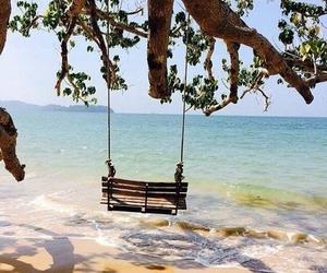 beach, laugh, and ocean image