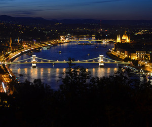 bridge, budapest, and building image