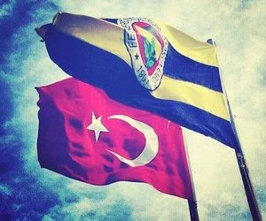 fenerbahce, flag, and turkey image