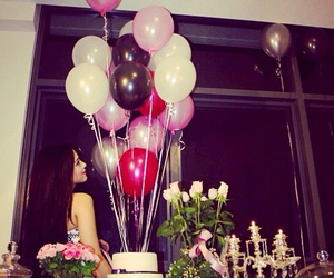 balons, birthday, and girl image