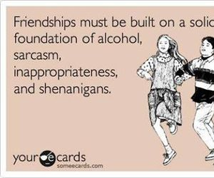 alcohol, friendship, and friends image