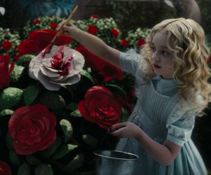 alice, painting, and movie image