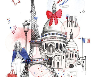 drawing, places, and eiffel tower image