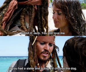 Caribbean, johnnydepp, and funny image