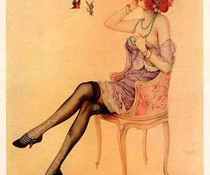 1922, illustration, and lingerie image