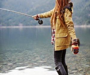 girl and fishing image