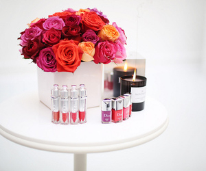 dior, flowers, and lipstick image