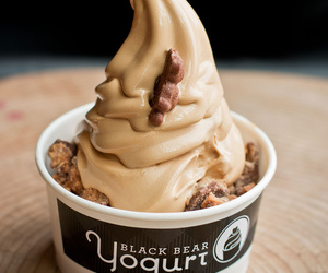 food, yogurt, and chocolate image