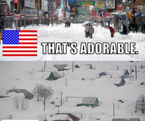 funny, snow, and canada image