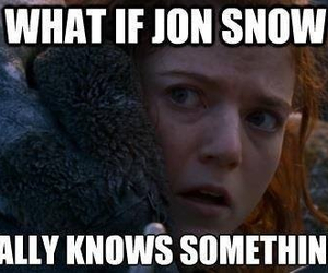 ygritte, game of thrones, and jon snow image