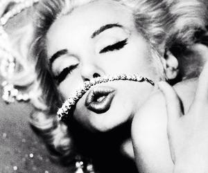 Marilyn Monroe, diamond, and vintage image