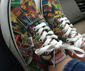 vans, Marvel, and shoes image