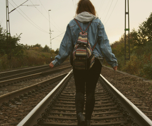 girl, train, and hipster image