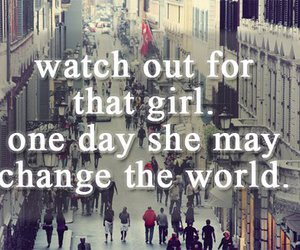 city, girl, and words image