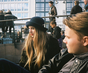 girl, boy, and vintage image