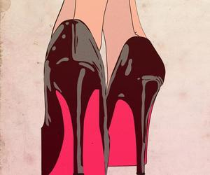 heels, black, and art image