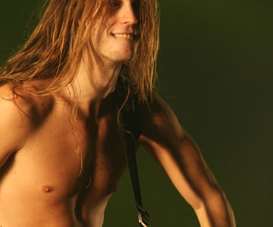 amazing hair, guitar, and sexy image