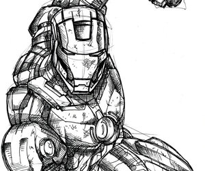 amazing, draw, and iron man image