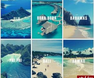 bahamas, hawaii, and bora bora image