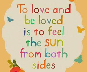 quote, love, and sun image
