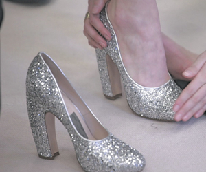 glitter, shoes, and silver image