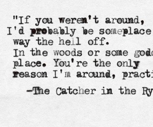 quotes, the catcher in the rye, and love image