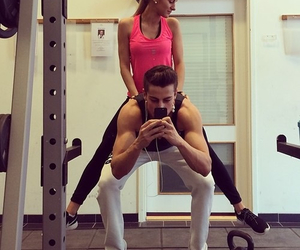 couple, gym, and motivation image