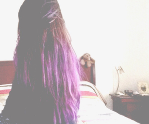 color, purple hair, and color hair image