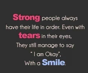 smile, strong, and tears image