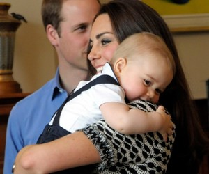 kate middleton, prince george, and baby image