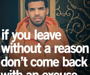 quote, Drake, and excuse image