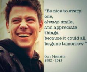cory monteith, forever, and glee image