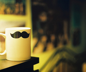 mustache and cup image