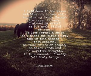 bird, horse, and quote image