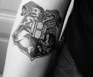 tattoo, hogwarts, and harry potter image