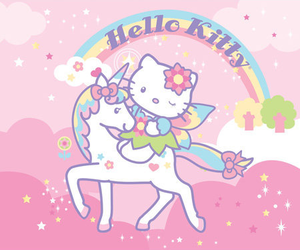 fairy, hello kitty, and cute image