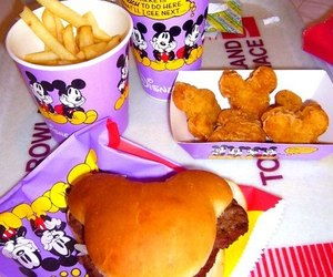 food, disney, and mickey mouse image