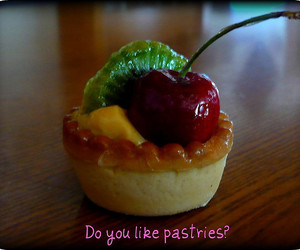 cherry, pastry, and food image