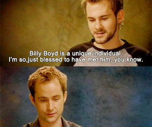 Dominic Monaghan, billy boyd, and lord of the rings image