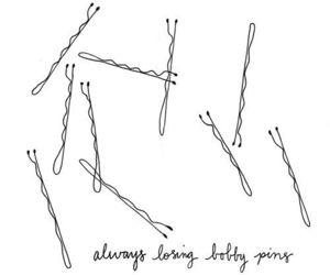 bobby pins, hair, and pins image