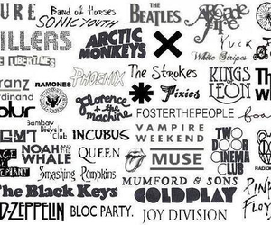music, arctic monkeys, and coldplay image