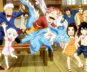 anime, fairy tail, and happy image