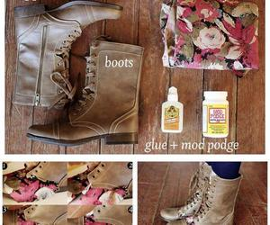 boots, crafty, and fabric image