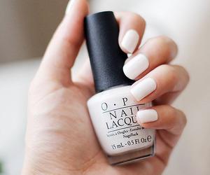nails, white, and opi image