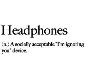 headphones, music, and quote image