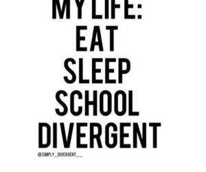divergent, school, and sleep image