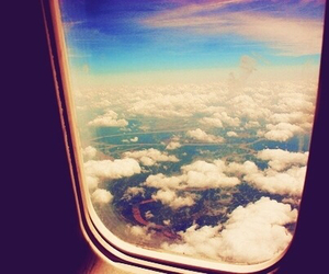 sky, clouds, and fly image